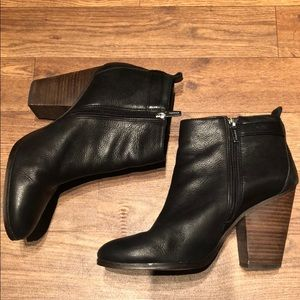 Coach black leather boots/booties